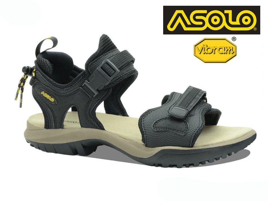 Asolo Scrambler black trekové sandále